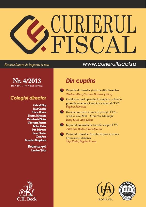 Publicitate in revista Curierul Fiscal